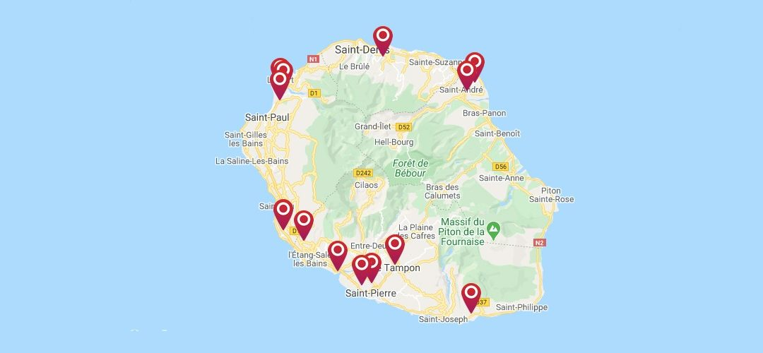 Find our points of sale throughout the island
